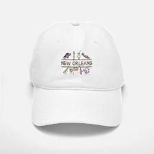 New Orleans Bead Design Baseball Baseball Cap