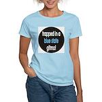 blue state gitmo Women's Pink T-Shirt