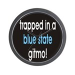 blue state gitmo Wall Clock
