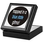 blue state gitmo Keepsake Box