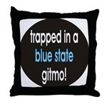blue state gitmo Throw Pillow