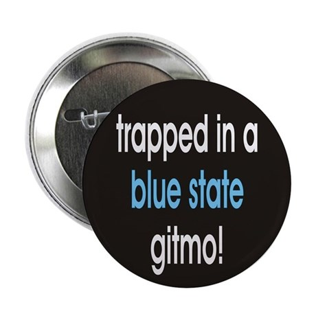 "blue state gitmo 2.25"" Button (100 pack)"
