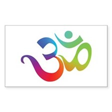 Om Rectangle Decal