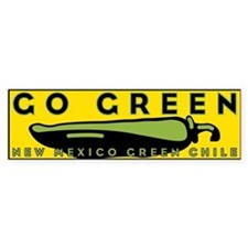 Go Green Bumper Bumper Sticker