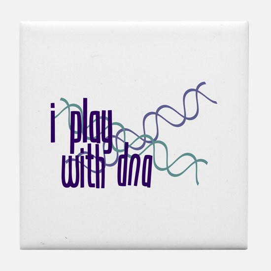 I Play with DNA Tile Coaster