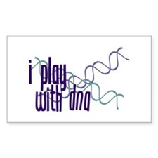 I Play with DNA Rectangle Decal