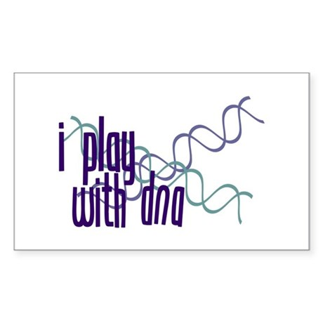 I Play with DNA Rectangle Sticker
