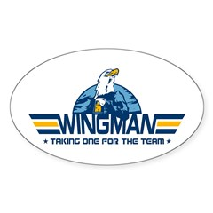 Wingman Oval Decal