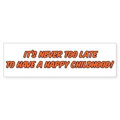 Happy childhood Bumper Bumper Sticker
