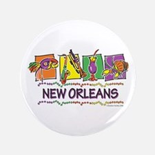 "New Orleans Squares 3.5"" Button"