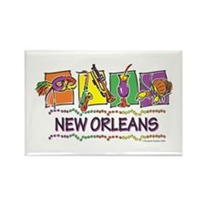 New Orleans Squares Rectangle Magnet