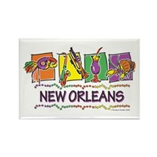 New Orleans Squares Rectangle Magnet (10 pack)