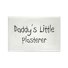 Daddy's Little Plasterer Rectangle Magnet (10 pack