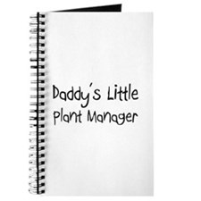 Daddy's Little Plant Manager Journal