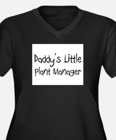 Daddy's Little Plant Manager Women's Plus Size V-N
