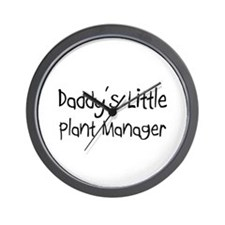 Daddy's Little Plant Manager Wall Clock