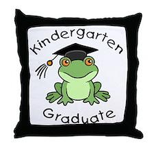Frog Kindergarten Graduate Throw Pillow