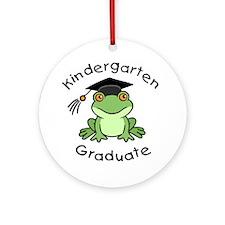 Frog Kindergarten Graduate Ornament (Round)