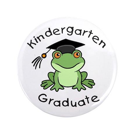 "Frog Kindergarten Graduate 3.5"" Button (100 pack)"