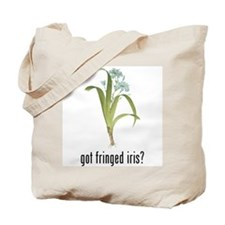 Fringed Iris Tote Bag