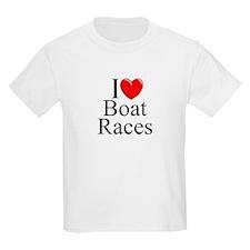 """I Love (Heart) Boat Races"" T-Shirt"