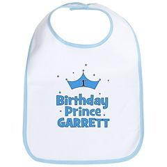 1st Birthday Prince Garrett! Bib