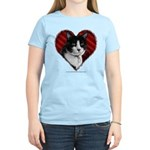 Tuxedo Cat Heart Women's Light T-Shirt