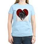 Siamese Cat Heart Women's Light T-Shirt