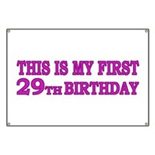 1st 29th Birthday Banner