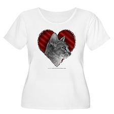Abyssinian Cat Heart T-Shirt