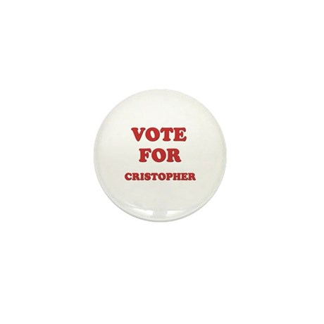 Vote for CRISTOPHER Mini Button (10 pack)