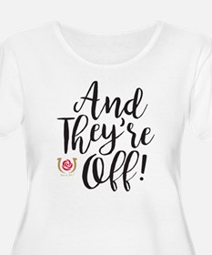 And They're Off Derby Plus Size T-Shirt