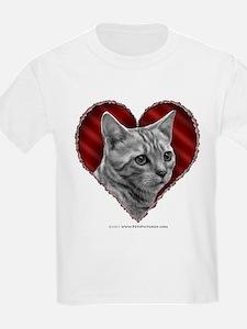 Bengal Cat Heart T-Shirt