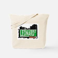 LEONARD ST, BROOKLYN, NYC Tote Bag