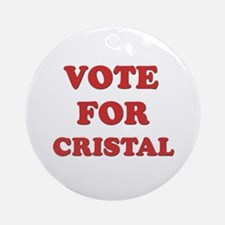 Vote for CRISTAL Ornament (Round)