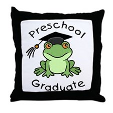 Frog Preschool Graduate Throw Pillow