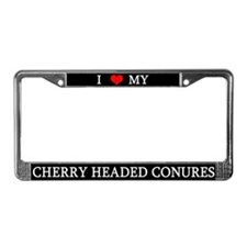 Love Cherry Headed Conures License Plate Frame