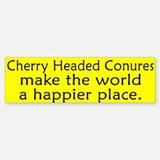 Happy Place Cherry Headed Conure Bumper Bumper Bumper Sticker