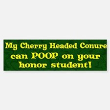 Honor Student Poop Cherry Headed Bumper Bumper Bumper Sticker