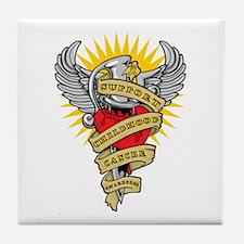 CC Dagger Tattoo Tile Coaster