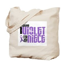 I Wear Violet For My Niece 6 Tote Bag