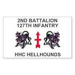 2-127th Infantry <BR>HHC Sticker