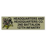 2-127th Infantry <BR>HHC Bumpersticker 2