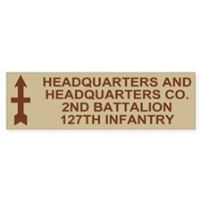2-127th Infantry <BR>HHC Bumpersticker 1