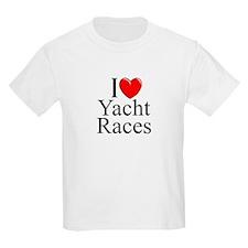 """I Love (Heart) Yacht Races"" T-Shirt"