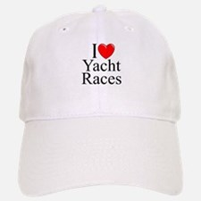 """I Love (Heart) Yacht Races"" Baseball Baseball Cap"