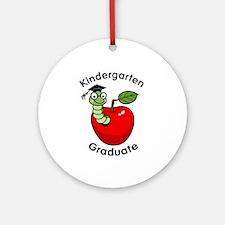 Bookworm Kndergaten Graduate Ornament (Round)