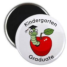 Bookworm Kndergaten Graduate Magnet