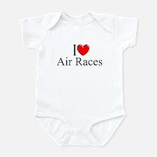 """I Love (Heart) Air Races"" Infant Bodysuit"