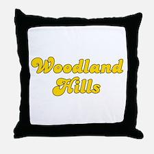 Retro Woodland Hills (Gold) Throw Pillow